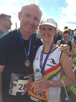 NiMAC's Nigel McDonald and Kerrie after completing the race